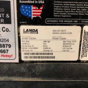 Landa VHG6-3000 SO#SO1682904-05